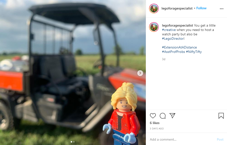Forage Specialist Shares Her Passion for Ag and Lego©
